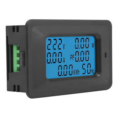 6 in 1 AC Digital Voltage Meter 110V-250V Current 20A Power Factor KWH Frequency