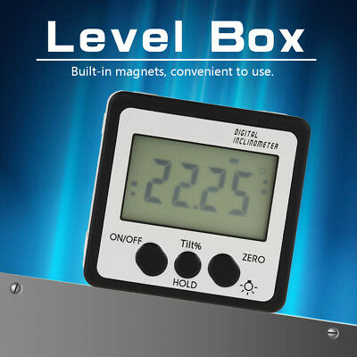 360° LCD Digital Inclinometer Level Box Gauge Angle Meter Finder Protractor new