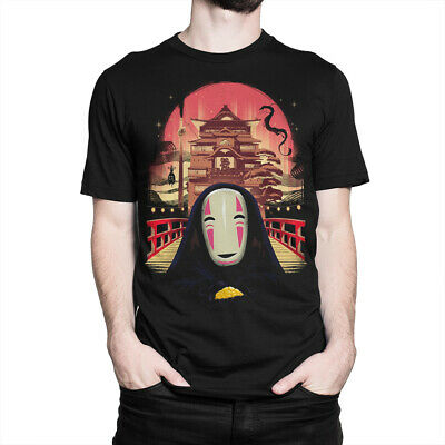 Spirited Away Original Art T-Shirt, Anime Studio Ghibli Hayao Miyazaki Men's Tee