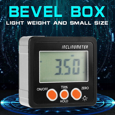 360° LCD Digital Inclinometer Level Box Gauge Angle Meter Finder Protractor el