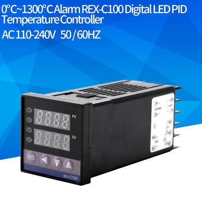 0~1300℃ Alarm PID REX-C100 Temperature Controller 40A Solid State Relay 110-380V
