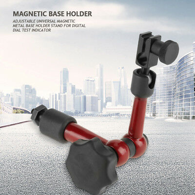 Universal Flexible Magnetic Metal Base Holder Stand Dial Test Indicator Tool Red