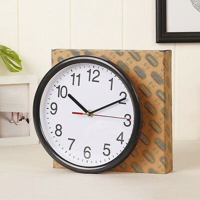 "8"" Large Vintage Analogue Round Wall Clock Home Bedroom Kitchen Quartz NR7X"