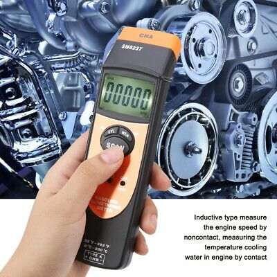 SM8237 Digital Non Contact Gasoline Engine Tachometer with USB 100-40000RPM MB