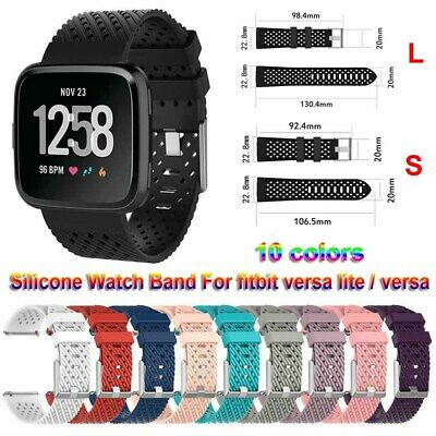 Silicone Watch Band Replacement Bracelet Strap For Fitbit Versa / Versa lite