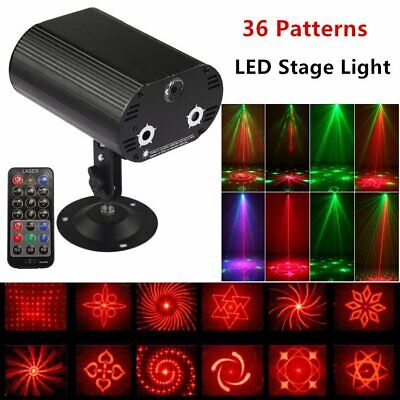 36 Gobos LED Stage RGB Laser Magic Lighting Disco Party Dance Club Moving Light