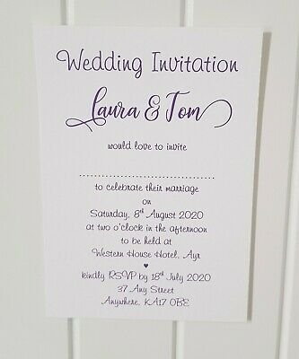 Personalised Wedding/Evening Invitations L4