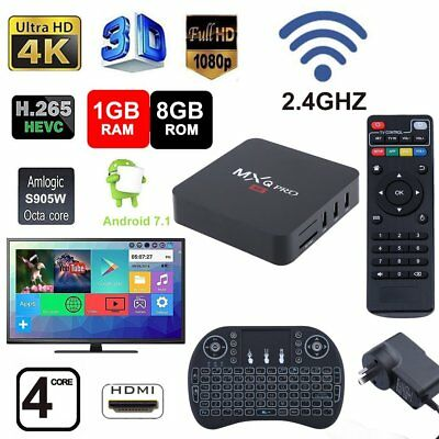 2019 MXQ PRO 4K BOX S905W 64Bit 1080P Quad-Core Android 7.1 SMART TV-BOX EU-PLUG