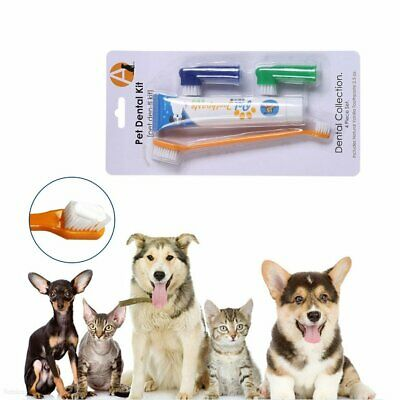 Pet Dog Cat Cleaning Toothpaste+ Toothbrush+ Back Up Brush Set Beef Flavour BO