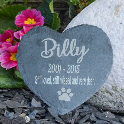 Personalised Engraved Slate Pet Memorial Grave Marker Plaque Dog - Cat