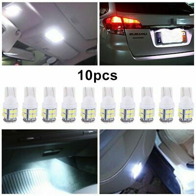 10 PCS T10 LED Super Brighr Car Lights W5W Push Wedge Capless Bright Side Light