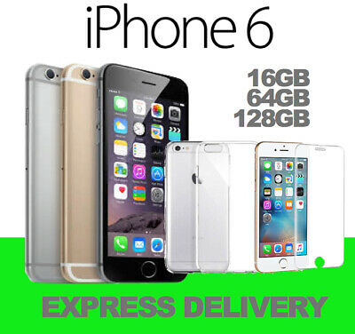 APPLE iPHONE 6 16GB 64GB 128GB 4G LTE GREY GOLD SILVER 100% UNLOCKED USED