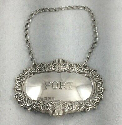 "Very Fancy Port English Sterling Liquor Label-2 1/2"" x 1 5/8"""