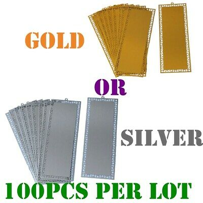 100pcs/lot Metal Bookmark with Dents for Sublimation Heat Press Printing