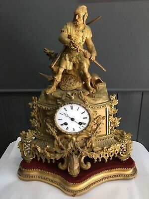 A Beautiful Gilded French Mantle Clock Japy Freres  dated 1855