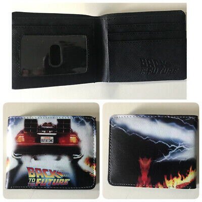 Back to the future Wallet Kids Boys Bifold Cosplay From Movie 1 2 3 delorean