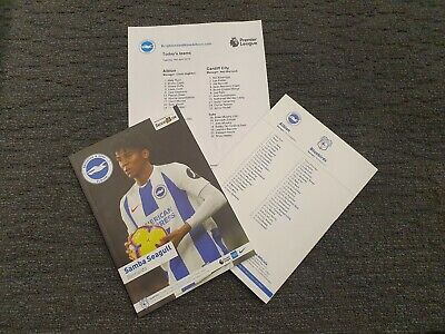 Brighton vs Cardiff 16/04/2019 PROGRAMME WITH TEAMSHEET!