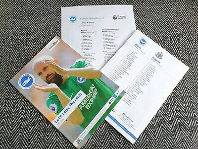 Brighton & Hove Albion vs Newcastle United 27/04/2019 PROGRAMME WITH TEAMSHEET!