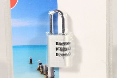 Suitcase Luggage Padlock 3 Dial Digit Combination Metal Code Password Lock