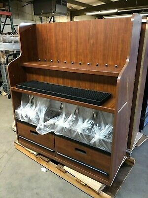 UCD Wood Bulk Sweets Display with 6 Trade Fixtures Candy Clear Bins Containers