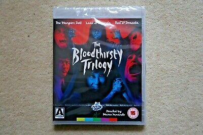 Blu-Ray  The Bloodthirsty  Trilogy    ( Arrow ) Brand New Sealed Uk Stock