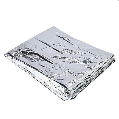 Silver Outdoor Emergency Survival Blanket Rescue First-Aid Camp Tent Safety D