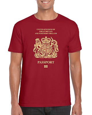 8da1b5e1 Great Britain and Northern Ireland Passport T-Shirt Tee- Funny Novelty  Brexit