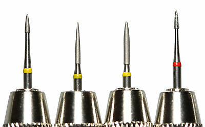 Set of 4 Professional Diamond Coated Pin Tools + Vises Cleaning Restoring Coins