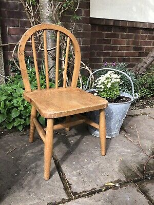 Vintage Antique Child's Chair Wooden Rustic School Farmhouse Miniature