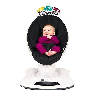 4Moms Mamaroo 4 Infant Reclining Seat Rocker Bouncer Bluetooth 4.0 Black 2018