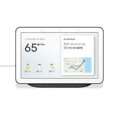 "Google Home Hub with Google Assistant Smart 7"" Display - Charcoal Black"
