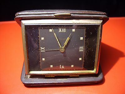 KIENZLE Table clock,Vintage Germany ,foldable travel with alarm,in working