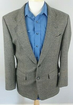 Hugo Boss Mens Jacket 41R USA Sport Coat Two 2 BTN Wool Houndstooth Tailored