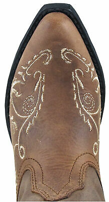 Smoky Mountain Childrens Girls Florence Brown Leather Cowboy Boots 3861C