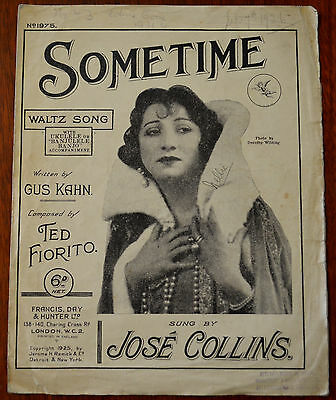 Sometime, Waltz Song by Gus Kahn & Ted Fiorito – Pub.1925