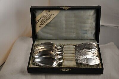 6 Cuilleres A Cafe Anciennes Argent Massif Antique Solid Silver Coffee Spoons