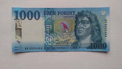 Hungary 1000 Forint Banknote 2017/2018, New Issue Unc