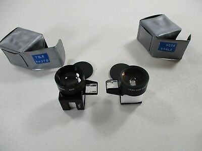 Kodak auxiliary lens set-telephoto and wide angle for Kodak disc cameras