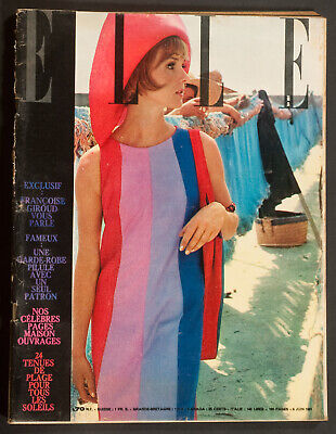 'elle' French Vintage Magazine Holiday Issue 9 June 1961