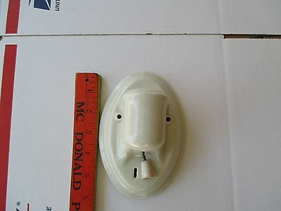 Antique Art Deco Porcelain Sconce 1920s Paulding Bathroom Wall Light Fixture VTG