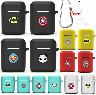 For Apple AirPods Charging Case Super Hero Protect Silicone Case Cover Skin