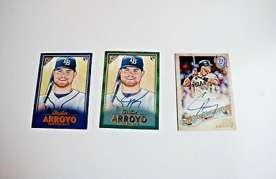2018 CHRISTIAN ARROYO Lot of 3 Rookie Cards w/2 AUTO and Special Blue Limited