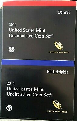 2011 P&D US Mint Uncirculated 28 Coin Set Sacagawea, Presidents, Kennedy & More