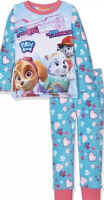 Paw Patrol Junior/ Kids Pjs Girls Age 5 Years New With Tags Fleece Type Pjs