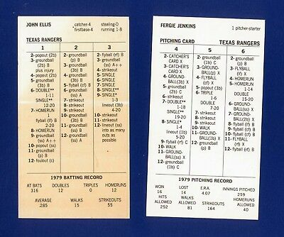 Strat O Matic Baseball 1979 Montreal Expos Team Set 1499