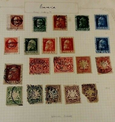 Bavaria Bayern Stamps from 1876
