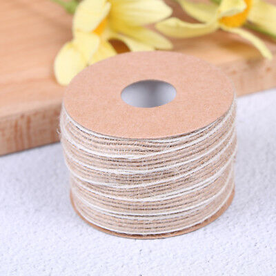 10m roll natural jute burlap rustic hessian ribbon tape strap wedding decorBLUS
