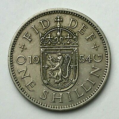Dated : 1954 - One Shilling - Coin - Queen Elizabeth II - Great Britain