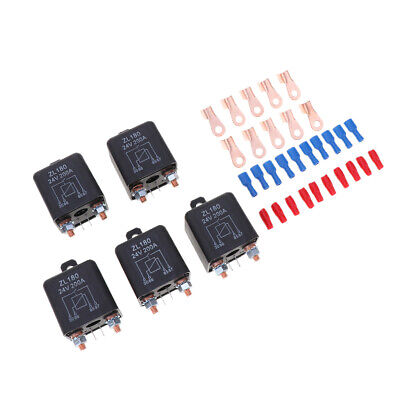 5x 200A 4-Pin Car Relay Switch Auto RV Changeover Relay 24VDC Switch Starter