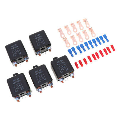5x 200A 4-Pin Car Relay Switch Auto RV Changeover Relay 12VDC Switch Starter